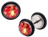 Pokemon Charmander Stainless Steel Screw Back Earrings
