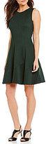 Alex Marie Aidy Scuba Lazer-Cut Sleeveless Dress