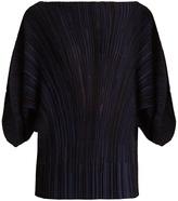 Sonia Rykiel Draped-sleeve ribbed-knit top