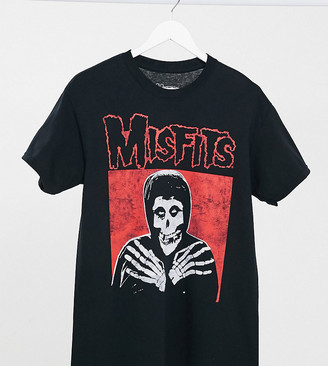 Daisy Street relaxed t-shirt with misfits graphic