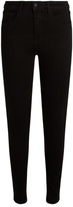 L'Agence Marguerite High-Rise Coated Skinny Jeans
