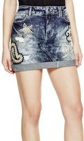 GUESS Embellished Denim Skirt