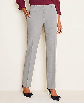 Ann Taylor The Petite Straight Pant in Houndstooth