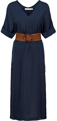 Bishop + Young Balinese Belted Dress (Navy) Women's Dress