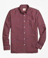 Brooks Brothers Plaid Oxford Sport Shirt