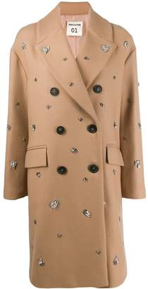 Semi-Couture Semicouture embellished double-breasted coat