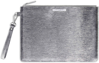 Katie Loxton - Zara Metallic Clutch Bag - Silver