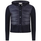 Moncler MonclerBoys Cotton Knit & Down Padded Cardigan