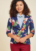 ModCloth Fab Floral Designer Blazer in S