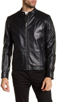 HUGO BOSS Lank Genuine Lamb Leather Jacket