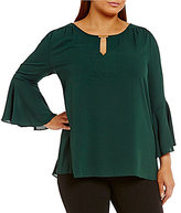 Gibson & Latimer Plus Bell Sleeve Blouse