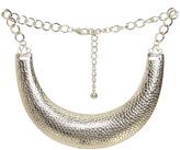 Arden B Patterned Metal Bib Necklace