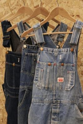 Urban Renewal Vintage Short Denim Dungarees - Blue M/L at Urban Outfitters