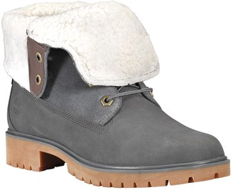 Timberland Jayne Faux Shearling Cuff Waterproof Leather Boot