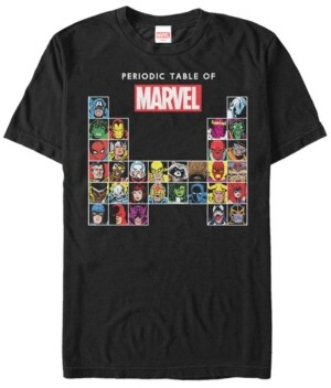 Marvel Men's Comic Collection The Periodic Table of Men's Short Sleeve T-Shirt