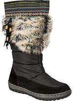 Wanderlust Women's Ivana Wide Calf Snow Boot - Black/Black Suede Boots