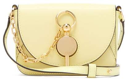 J.W.Anderson Nano Keyts Leather Cross Body Bag - Womens - Light Yellow
