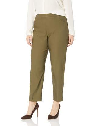 Alfred Dunner Women's Size Plus Comfort Elastic Proportioned Short Length Pant