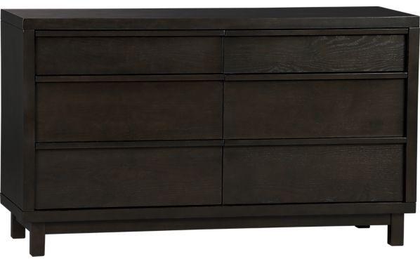 Crate & Barrel Ledge Java 6-Drawer Dresser