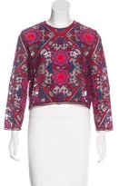 Sandro Short Sleeve Embroidered Top