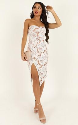 Showpo Lace To Lace Dress in white lace - 4 (XXS) Dresses