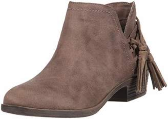 Rampage TIAAN Womens Cut Out Ankle Bootie with Decorative Side Tassle Boot