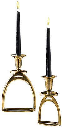 One Kings Lane Asst. of 2 Foal Candleholders - Antiqued Gold