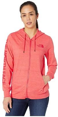 The North Face Lightweight Tri-Blend Full Zip Hoodie (Burnt Olive Green Heather) Women's Sweatshirt