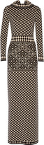 Temperley London Empire intarsia-knit merino wool maxi dress