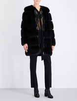 Givenchy Round-neck faux-fur coat