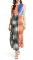 Diane von Furstenberg Women's Print Block Stretch Silk Maxi Dress