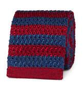 Gucci UFO-Appliquéd Striped Knitted Silk Tie
