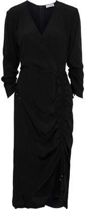 Altuzarra Oriana Wrap-effect Ruched Textured-crepe Dress