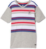 Beverly Hills Polo Club Gray Heather & Red Stripe Jersey Tee - Toddler