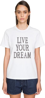 Alberta Ferretti 'LIVE OUR DREAM' COTTON JERSEY T-SHIRT