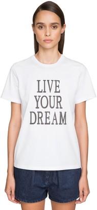 Alberta Ferretti 'live Our Dream' Cotton Jersey T-Shirt