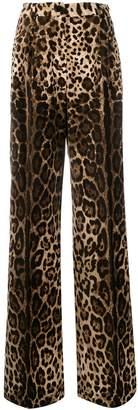 Dolce & Gabbana leopard patterned palazzo trousers