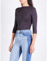 Maje Mio high-neck knitted jumper