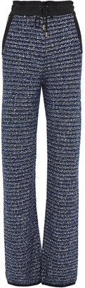 Balmain Sequin And Tinsel-embellished Knitted Straight-leg Pants