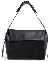 AllSaints Maya Calfskin Shoulder Bag - Black