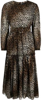 Samantha Sung Tiffany cheetah print midi dress