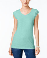 Style&Co. Style & Co Petite Cap-Sleeve T-Shirt, Created for Macy's