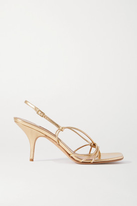 Emme Parsons Adele Metallic Leather Sandals - Gold