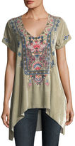 Johnny Was Nindi Embroidered Velvet Top, Plus Size