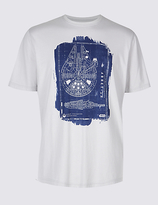 M&S Collection Pure Cotton Star WarsTM T-Shirt