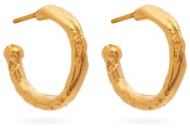 Alighieri The Morning Hour 24kt Gold-plated Hoop Earrings - Womens - Gold