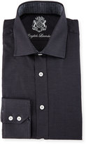 English Laundry Pin Dot Long-Sleeve Dress Shirt, Black