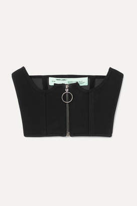 Off-White Off White Printed Jersey Bustier - Black