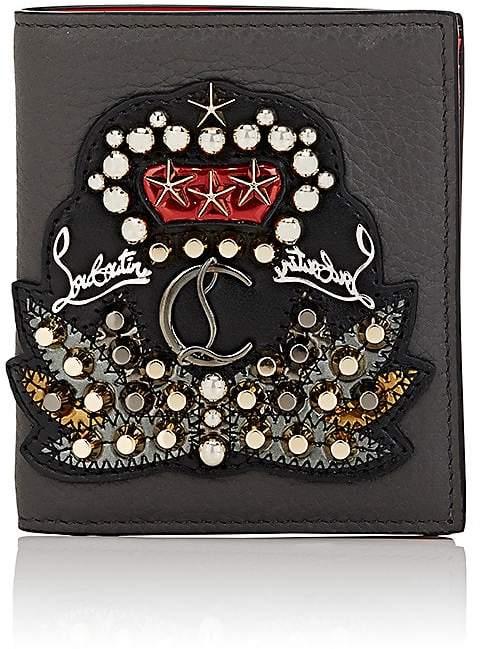 Christian Louboutin Men's Studded-Crest Card Case