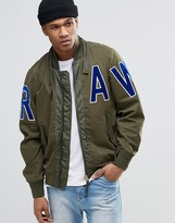 G Star G-Star Submarine Bomber Jacket Raw Applique